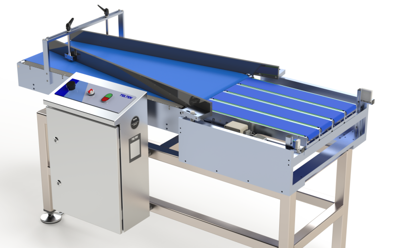 Inliner LS150 used to deliver products in uniform lines to downstream systems
